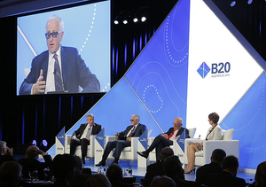 RSPP President Alexander Shokhin addressed the B20 summit in Sydney